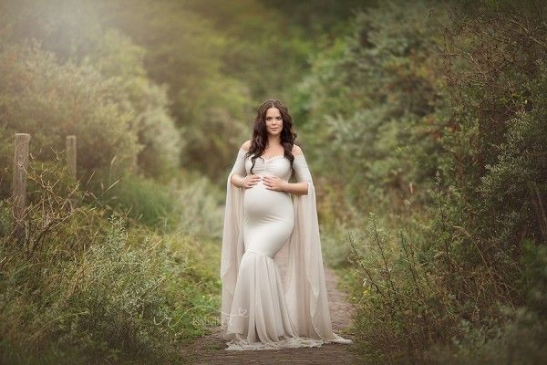 Hellebore Maternity Gown Sand