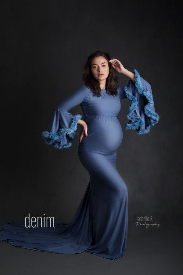 Poinsetta Maternity Gown