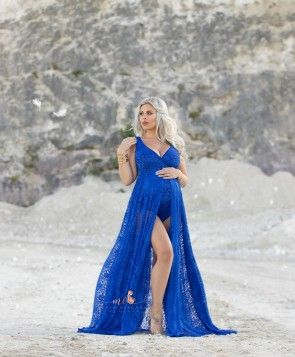 Dicentra Maternity Gown Royal