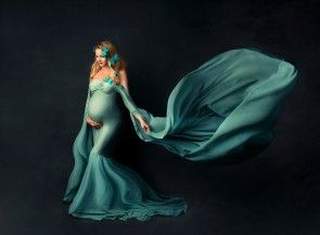 Hellebore Maternity Gown Azur