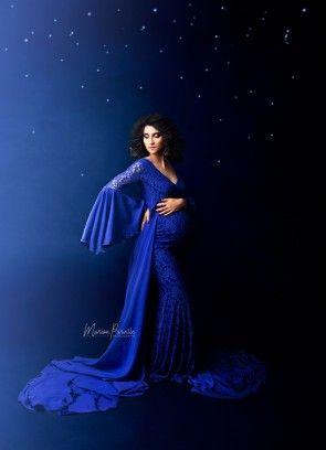 Flamboyant Maternity Gown