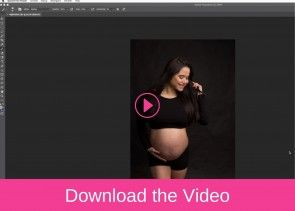How to Edit the Beautiful Black Ixoria Set in Maternity Portraits