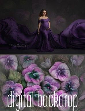 Digital Backdrop Violet Fantasy by Danielle Hagens