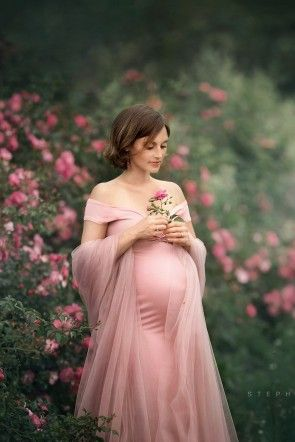 Abelia Maternity Dress Dusty Pink