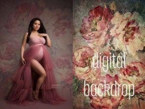 Digital Rose Backdrop by Danielle Hagens