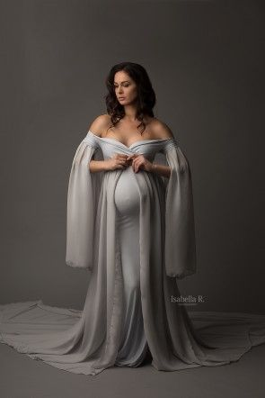 Xana Maternity Gown Cool Grey