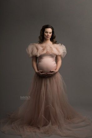 Saint Louise Maternity Gown Dusty Pink