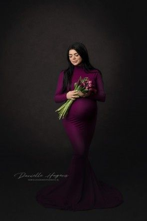 Dahlia Maternity Gown Magenta